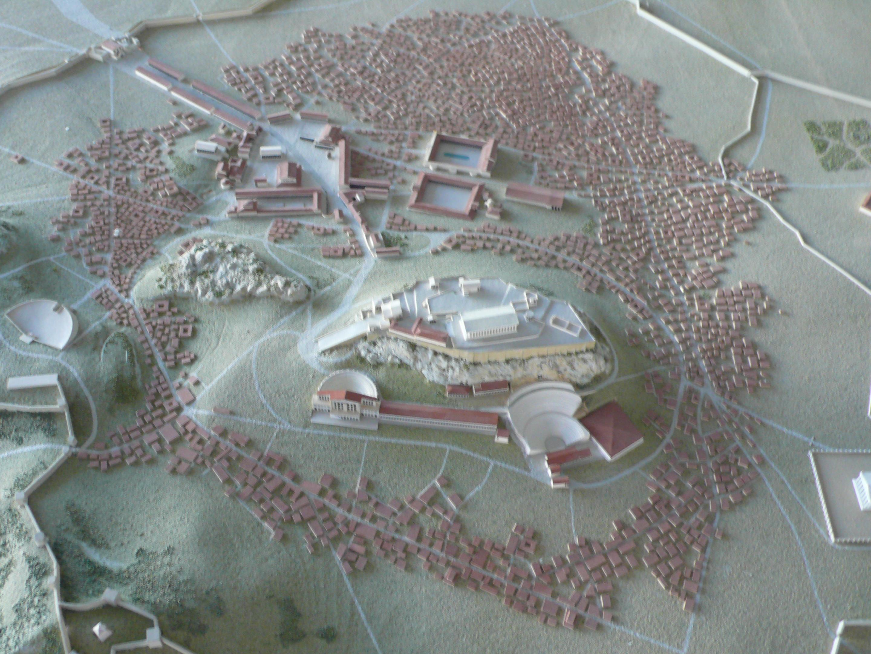 Atene: plastico della città antica